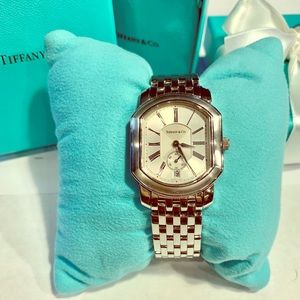 Stainless steel watch, Tiffany & Co Mark Coupe